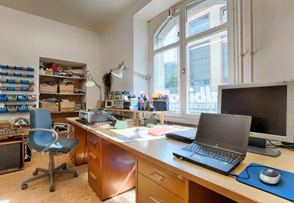 Die alte Werkstatt von albi SERVICES am Burgweg in Basel