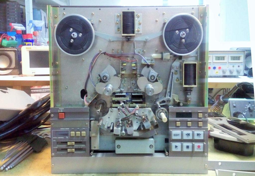 TASCAM MS-16 Laufwerk geöffnet