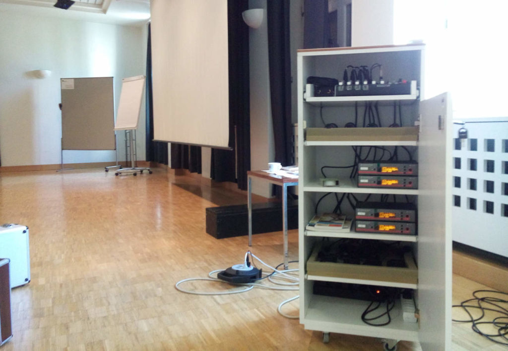 4 Funk-Kanäle und ein neues Mischpult eine Sennheiser Funkmikrofonanlage von albi SERVICES