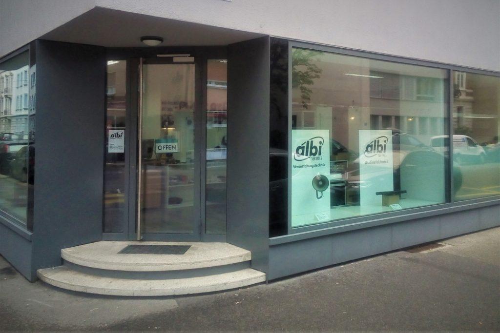 albi SERVICES Laden/Werkstatt Hochstrasse 64,Ecke Bruderholzstrasse
